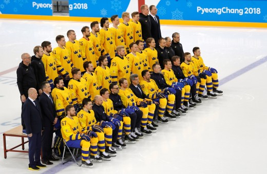 2018 Winter Olympics, Day 5, Ice Hockey, practice Sweden