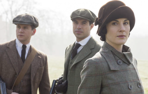 Tom Branson, Lord Gillingham och Lady Mary Crawley. Foto: NBC/SVT