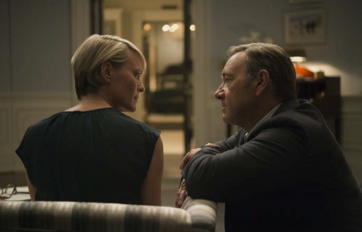 "Robin Wright and Kevin Spacey på an image från ""House of Cards"" third päsong. Photo: David Giesbrecht/Netflix"